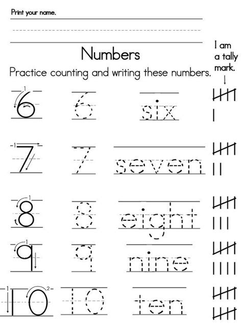 Number Worksheets For Kindergarten by Writing Numbers In Words Worksheets Numbers Worksheets