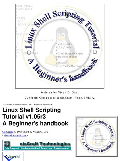 linux tutorial for beginners pdf linux shell scripting tutorial a beginner s handbook