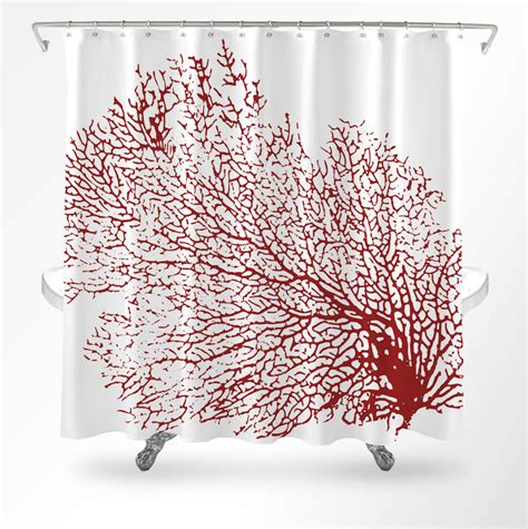 coral shower curtain coral shower curtain coastal shower curtain ocean shower