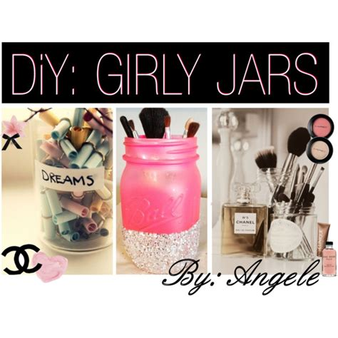 How To Make Girly Things Out Of Paper - diy girly jars polyvore