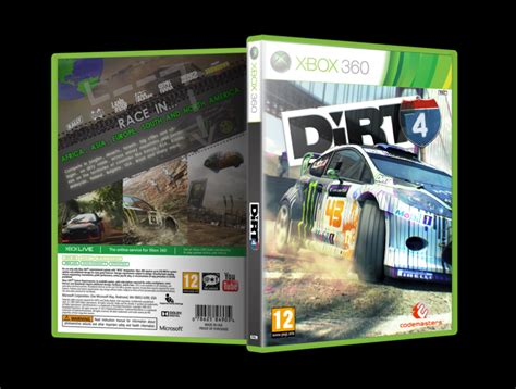 Home Design Games For Xbox 360 Dirt 4 Xbox 360 Box Art Cover By Slnd