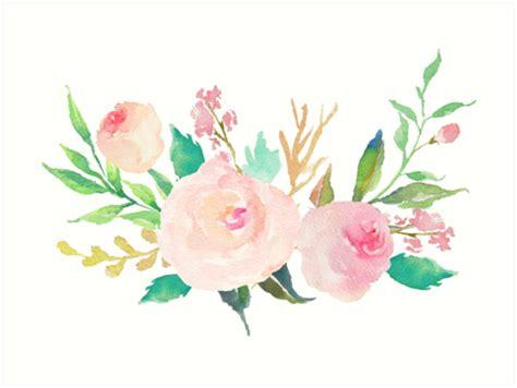 """""""Pastel Watercolor Flower Bouquet"""" Art Prints by"""