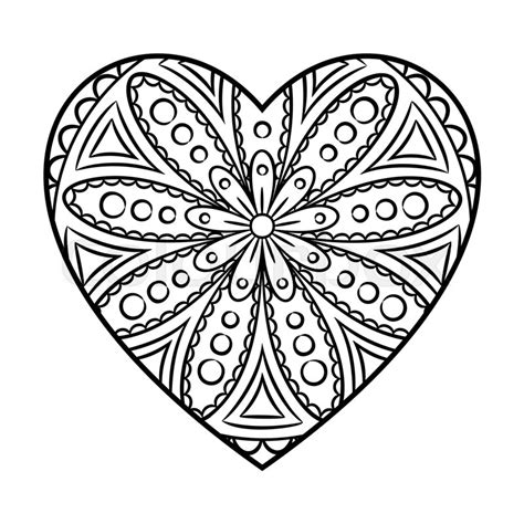 love mandala coloring pages doodle heart mandala coloring page outline floral design