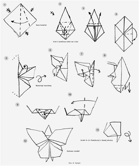 steps in origami butterfly comot