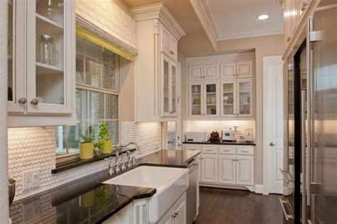 French Kitchen Island Marble Top 25 Stylish Galley Kitchen Designs Designing Idea