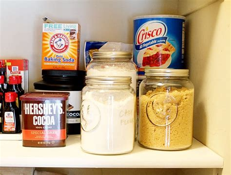 Confectioners Sugar Shelf by Kitchen Pantry Organization Before After I Am Baker