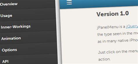 jquery mobile menu 5 mobile menu plugins for jquery spiced2