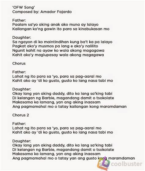 song lyrics tagalog song tagalog 100 images ikaw lamang christian song