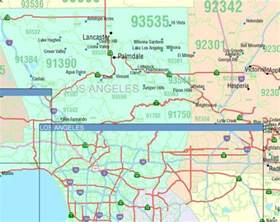 Southern California Zip Code Map by California Zip Code Map