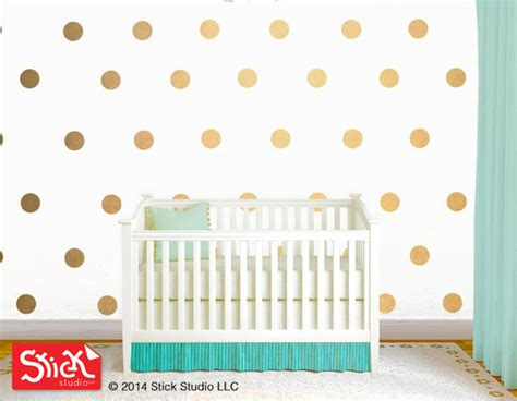 polka dot wall decals gold polka dot wall decal removable