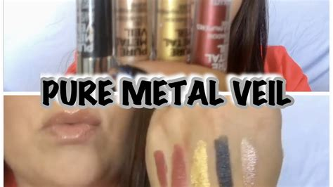 Makeup Absolute New York review tutorial metal veil shadows by
