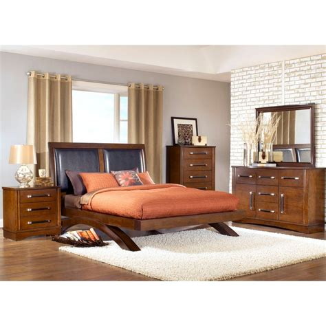 bed and dresser set java bedroom bed dresser mirror king jv600