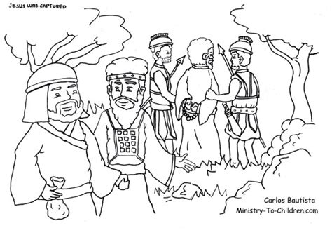 judas betrays jesus coloring page