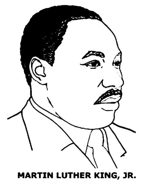 Martin Luther King Jr Coloring Pages Printable