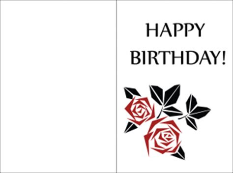 free printable birthday cards you can add photos minimalist red petal birthday cards