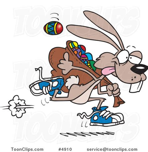 Ro N St Piyama Rabbit easter bunny running with a bag of eggs 4910 by leishman
