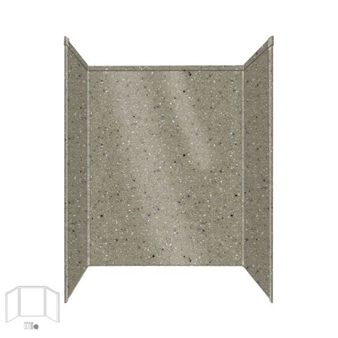 Composite Shower Wall Panels by Shop Transolid Decor Peppered Fiberglass Plastic