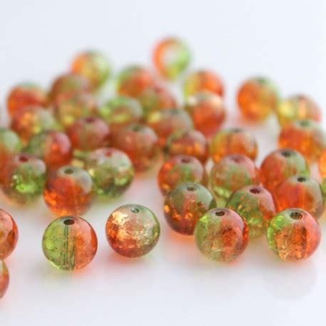Crackle Green 8mm 8mm green orange crackle beadbubble