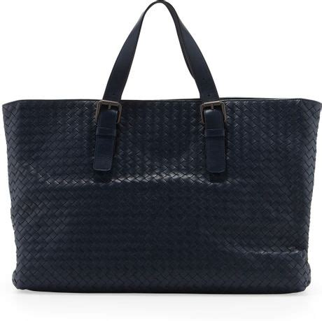 Bottega Veneta Deerskin Woven Tote by Bottega Veneta Large Woven Tote Bag Navy In For Navy