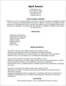 Exle Of Lpn Resume by Professional Lpn Resume Templates To Showcase Your Talent Myperfectresume
