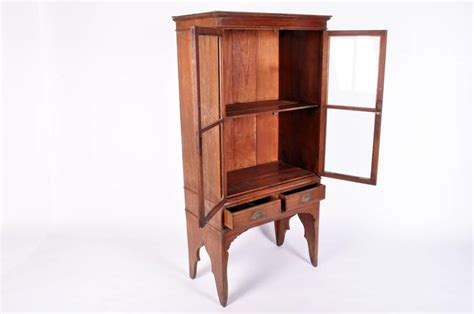 Display Cabinet Thailand Lanna Thai Teak Wood Display Cabinet With Two Drawers For