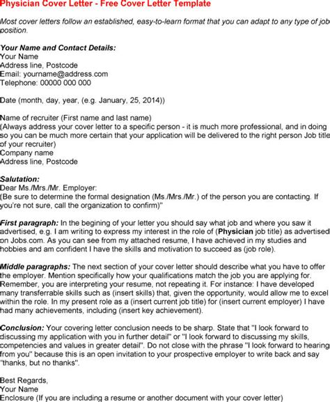 cover letter exles for doctors cover letter for physician