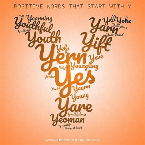 Positive Words That Start With The Letter Y positive adjectives that start with y