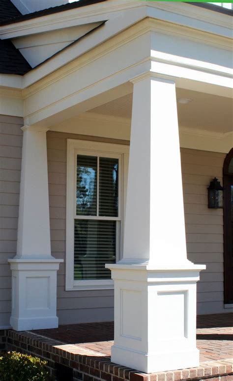 Patio Columns Design Front Porch Front Porch Design With Square White Columns Combine With Siding Wall And
