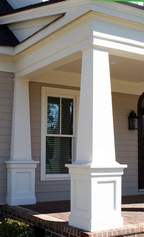 Front Porch Front Porch Design With Square White Columns Patio Columns Design