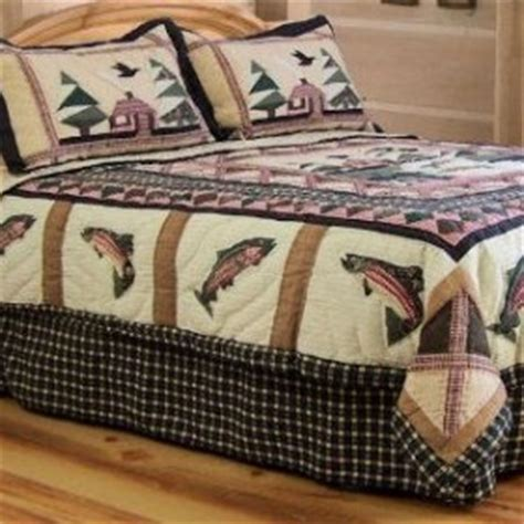 fishing comforter set fishing bedding sets fishing king quilt set log cabin