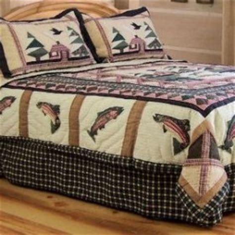 Fishing Bedding Sets Fishing Lodge Theme Quilt Set Townhouse Linens