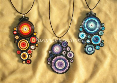 Quilling pendants by OmbryB on DeviantArt