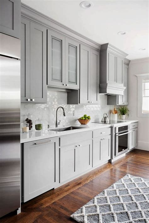 Grey Kitchen Designs Shaker Style Kitchen Cabinet Painted In Benjamin 1475 Graystone The Walls Shaker Style