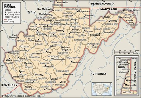 west virginia cities map an american family february 2011
