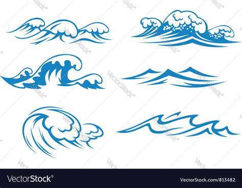 sea wave logos vector free stock vector and sea waves royalty free vector image vectorstock