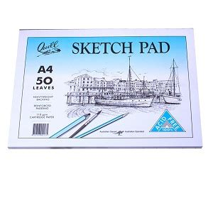 quill a4 sketchbook quill sketch pad a4 50 leaf coast to coast school