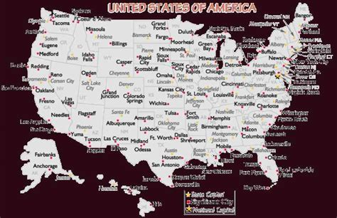 us map states and major cities map of the united states major cities map