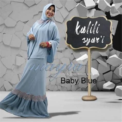 Mayra Black Syari kalili syar i baby blue baju muslim gamis modern