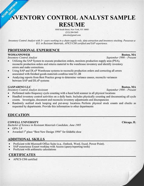 systems analyst resume computer systems analyst resume sample