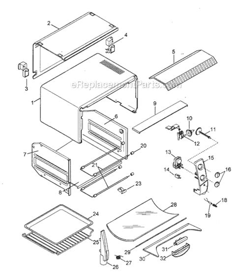 Delonghi Toaster Oven Replacement Parts Delonghi Xu400 Parts List And Diagram Ereplacementparts Com