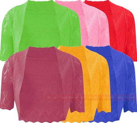 new aqua blue w bolero new womens knitted bolero shrug crochet cardigan