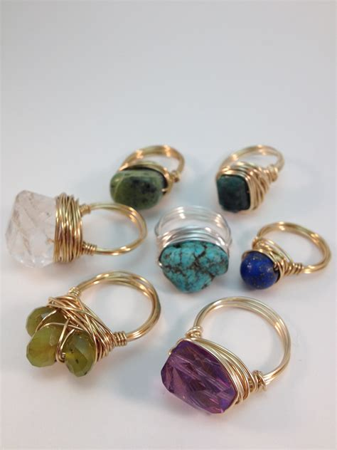 bead jewelry rings wire wrapped rings of splendor