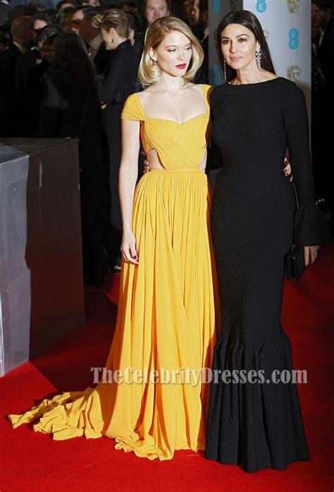 lea seydoux yellow dress l 233 a seydoux yellow cap sleeve evening dress 2015 baftas