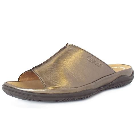 mules sandals gabor sandals idol wide fit summer leather mules