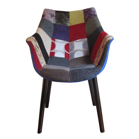 patchwork armchair mc patchwork armchair natural wood legs nuans touch