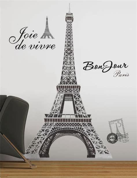 wall stickers eiffel tower eiffel tower wall stickers mural decal 55 inches room decor roommates ebay