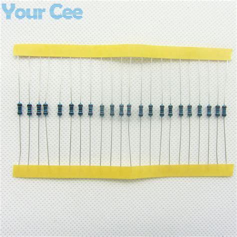 100 ohm resistor 1 100pcs 1 4w metal resistor resistor 100 ohm 100r っ 1 rohs lead free in