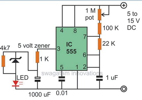 effect of capacitor on led make interesting flasher and fader led circuits using ic 555