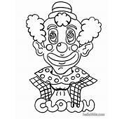 Clown Zum Ausmalen  Dehellokidscom