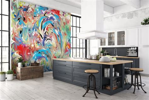 abstract kitchen wallpaper 7 funky wallpapers for kitchens wallsauce australia